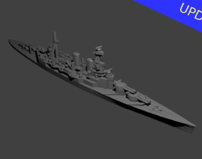3D printable model British Battlecruiser HMS Hood Warship