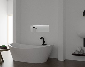 3D model Basic Bathroom