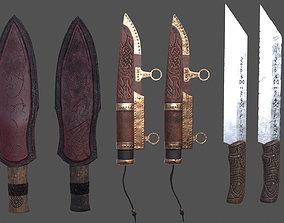 Viking Knife Kit 3D model