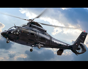 3D model Eurocopter AS 565 Private Black