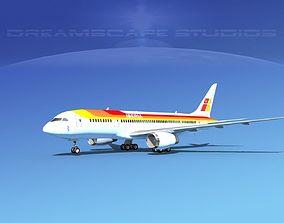 Boeing 787-8 Iberia 3D model