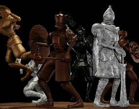 3D model Fantasy Chess Character Pack with Weapons