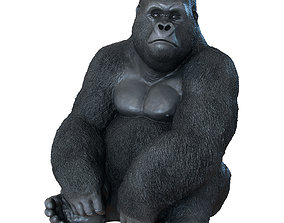 3D model Deco Figurine Monkey Gorilla Side XL