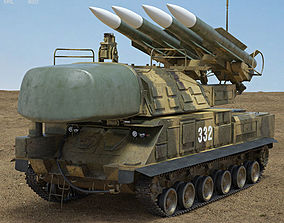 Buk M1 missile system 3D