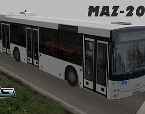 3D asset Maz-203