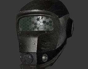 3D model Low poly sci fi helmet