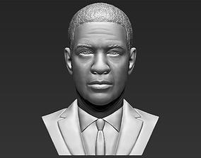Denzel Washington bust 3D printing ready stl obj formats