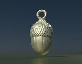 3D printable model Acorn Pendant