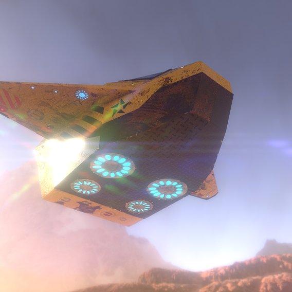Sci-fi Inspector's spaceship