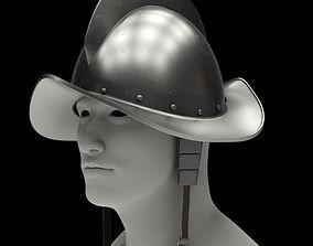 3D Spanish Medieval Knight Morion Helmet