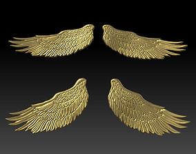3D printable model angel wings