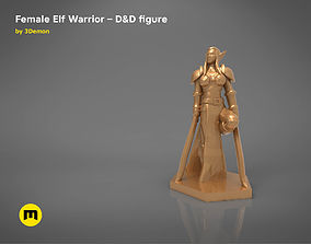 ELF WARRIOR FEMALE CHARACTER GAME 3D printable model