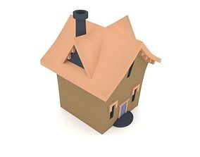3D model Cartoon House Low Poly