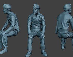 3D printable model German Tank Crew unit ww2 Sit GTC1
