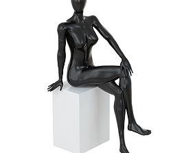 3D model Female seated mannequin 85