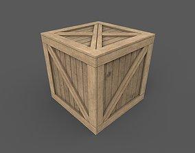 Wooden Box Game Ready 3D asset