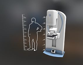 General Electric Healthcare Mammography System 3D model 1