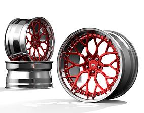 3D model Vossen S-17 3 piece wheels