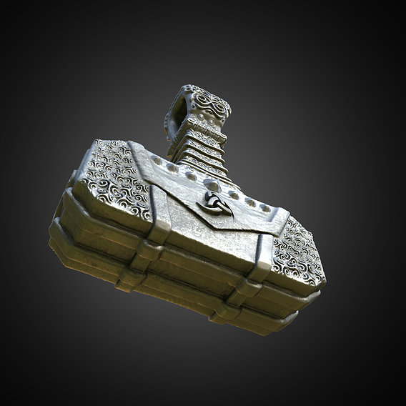 Stylized Thor Hammer's Pendant
