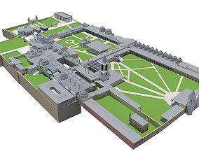 Topkapi Palace full exterior scene 3D model