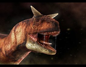 3D asset rigged Carnotaurus