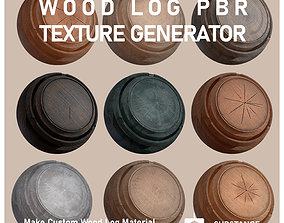 Wood-Log-PBR-Texture Generator 3D