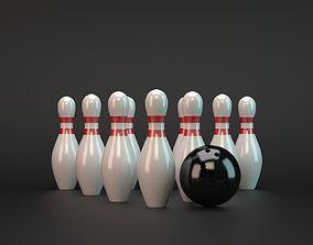 3D asset low-poly Bowling