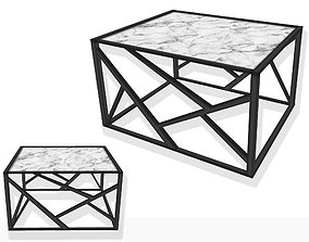 3D model Marble coffee table mesh