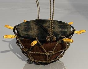 Gbedu Native African Drum 3D asset game-ready