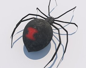 3D Spider Black Widow