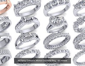 82 Fancy Collection Woman Diamond Ring 3D model