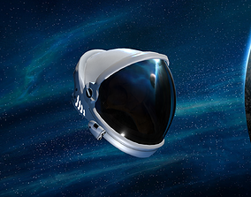 Space Helmet 3D model rigged