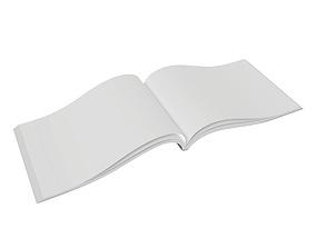 3D model Brochure opened size A5 01