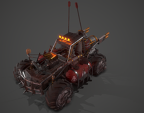 3D asset Battle Buggy Car 02