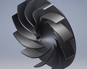Impeller blade for cooling fan air turbine 3D print model