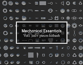 Mechanical Essentials Kitbash Vol1 340 pieces 3D asset