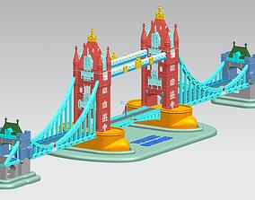 3D printable model Tower Bridge in London