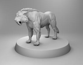 3D print model Strong tiger