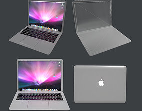 3D asset Apple MacBook Pro Laptop Computer Game Ready