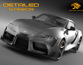 Toyota Supra GR 2020 speed 3D model