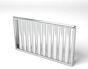 3D model Simple metal air vent