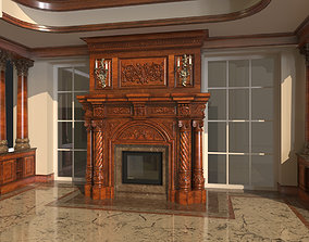 3D model heating Classic Fireplace 1
