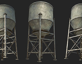 3D model Old Silo 5 PBR
