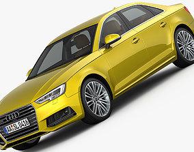 3D Audi A4 S-Line 2016 detailed interior