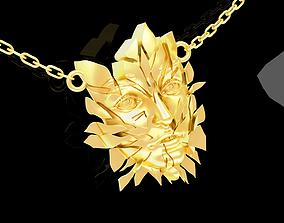 3D print model Broken Face Pendant jewelry Gold