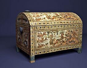 3D model Egyptian King Tutankhamun chest
