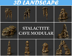 Low poly Stalactite Cave Modular Pack A 2020 3D model