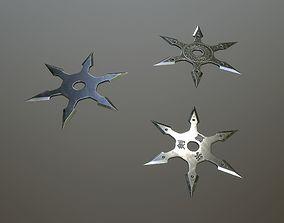 3D asset Shuriken with six blades