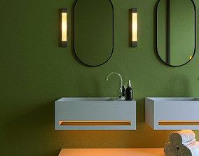 3D Modern Bathroom Complete