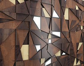 Decor backlit wood panel 3D model